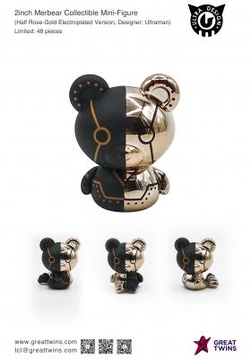 2inch-Merbear-Collectible-Mini-Figure-Half-Rose-Gold-Electroplated-Version-Ultraman