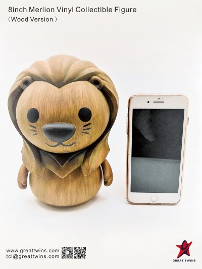 8inch Merlion Vinyl Collectible Figure - Wood Version (English)_10