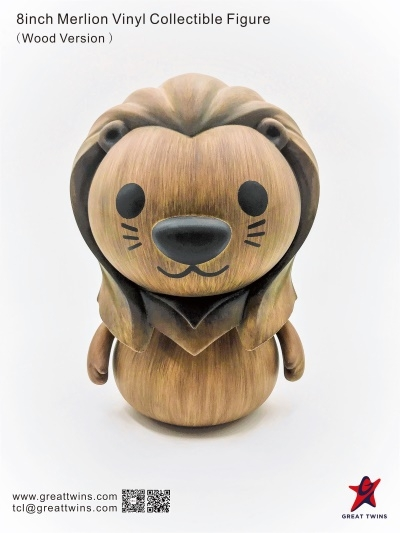 8inch Merlion Vinyl Collectible Figure - Wood Version (English)_2