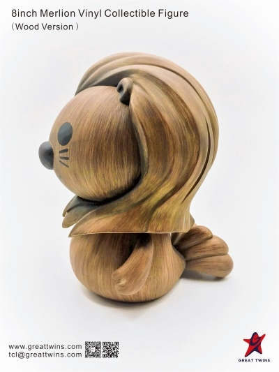 8inch Merlion Vinyl Collectible Figure - Wood Version (English)_4