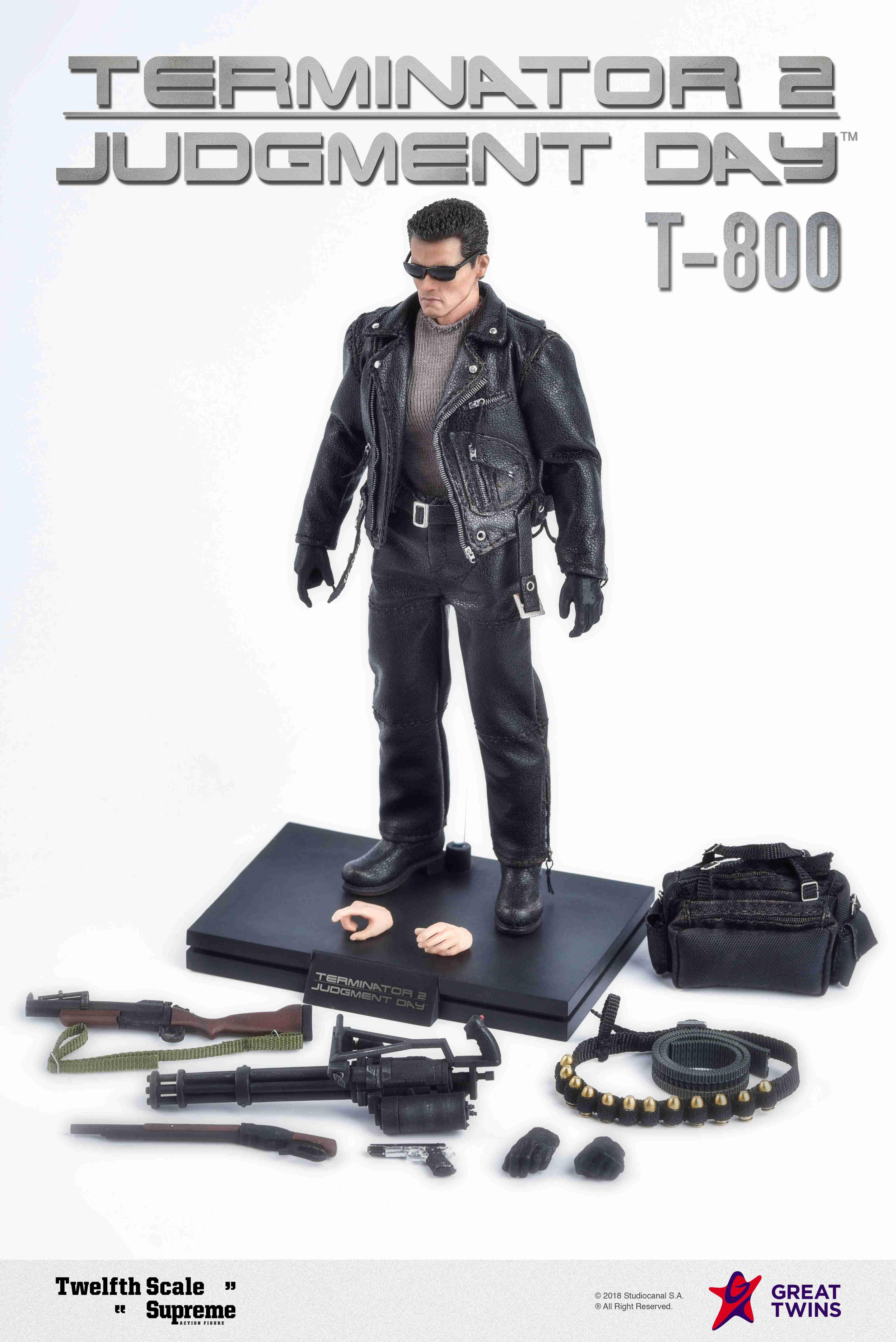 Twelfth Scale Supreme Action Figure (Terminator 2 Movie - T-800)_8