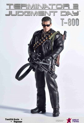 Twelfth Scale Supreme Action Figure (Terminator 2 Movie - T-800)_1