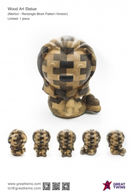 Merlion-Rectangle-Block-Pattern-Version