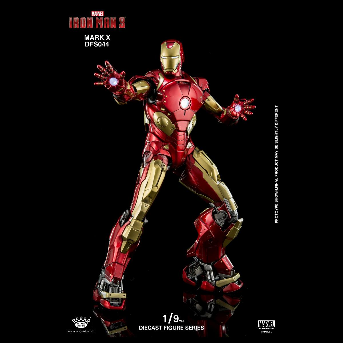 King Arts 1/9 Scale Die Cast Iron Man Action Figure