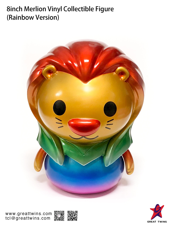 8inch_Merlion_Vinyl_Collectible_Figure_Rainbow_Version_English