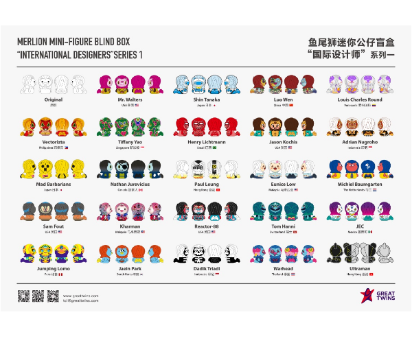 Merlion Mini-Figure Blind Box _International Designers_ Series 1